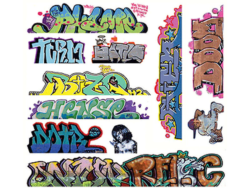 184-2259 HO Graffiti Decals Mega Set -- #10