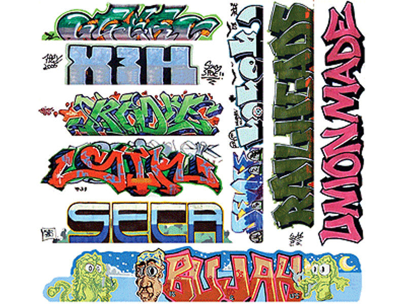 184-2260 HO Graffiti Decals Mega Set -- #11