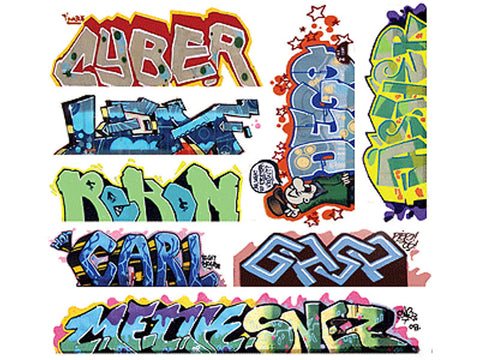 HO Graffiti Decals Mega Set -- #12