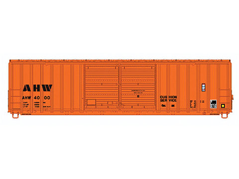 N FMC 5283 50' Double-Door Boxcar - Ready to Run -- Ahnapee Western #4000 (orange, black)