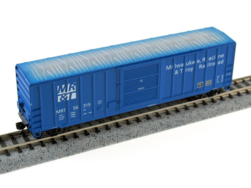 282-89161 N FMC 5347 Cubic Foot Single-Door Boxcar - Ready to Run -- Milwaukee, Racine & Troy #1 (Model Railroader Magazine Layout)