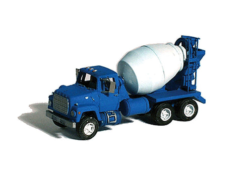 N Construction Equipment (Unpainted Metal Kit) -- Ford 9000 Cement Truck