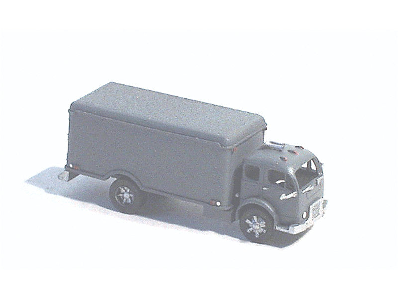 284-56005 N American Truck - White (Unpainted Metal Kit) -- Cabover w/Refrigerated City Delivery Body