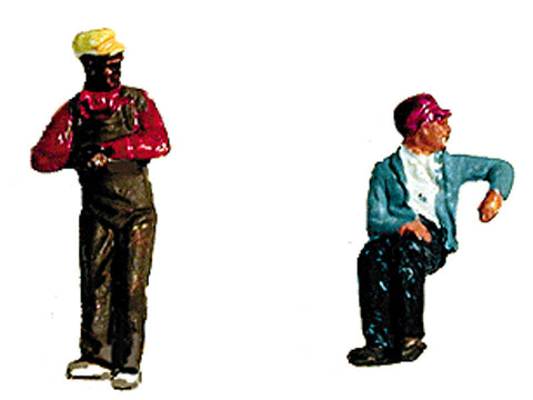 N Contemporary Diesel Engineer/Fireman Set (Painted) -- Slouching & Leaning
