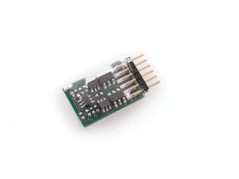 N DCC Mobile Decoder - MC1 Series DCC Only -- N&Z; 2-Function, 6-Pin, 13 x 9 x 3mm