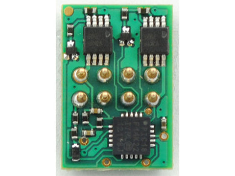 "HO DP2X 2-Function DCC Decoder w/Direct 8-Pin NMRA Plug On Board - Control Only -- Direct Board Mounted Plug .462 x .687 x .12"" or 11.73 x 17.45 x 3.05mm"