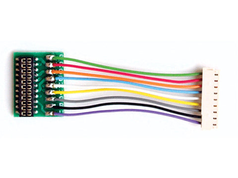 "HO DCC Decoder Harness -- T-1""-21 JST 9-Pin to NEM21 Socket, 1"" 2.54cm Wires"