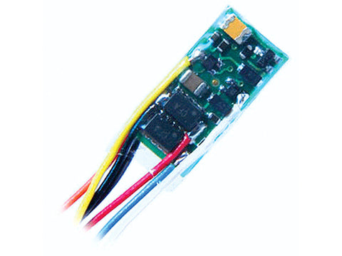 "Z Z2P-1"" 2-Function DCC Decoder -- 1"" 2.54cm Harness & NMRA 8-Pin Plug .245 x .525 x .11"" 6.22 x 13.34 x 2.7mm"