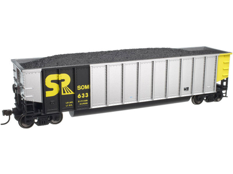 751-20002813 HO Aluminum Coal Gondola w/Load - Ready to Run -- Somerset Railroad #701 (aluminum, black, yellow)