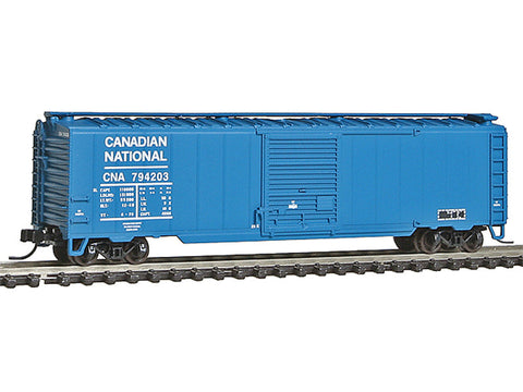 N 50' Single-Door Boxcar - Ready to Run -- Canadian National #794203 (blue, white, No Logo)
