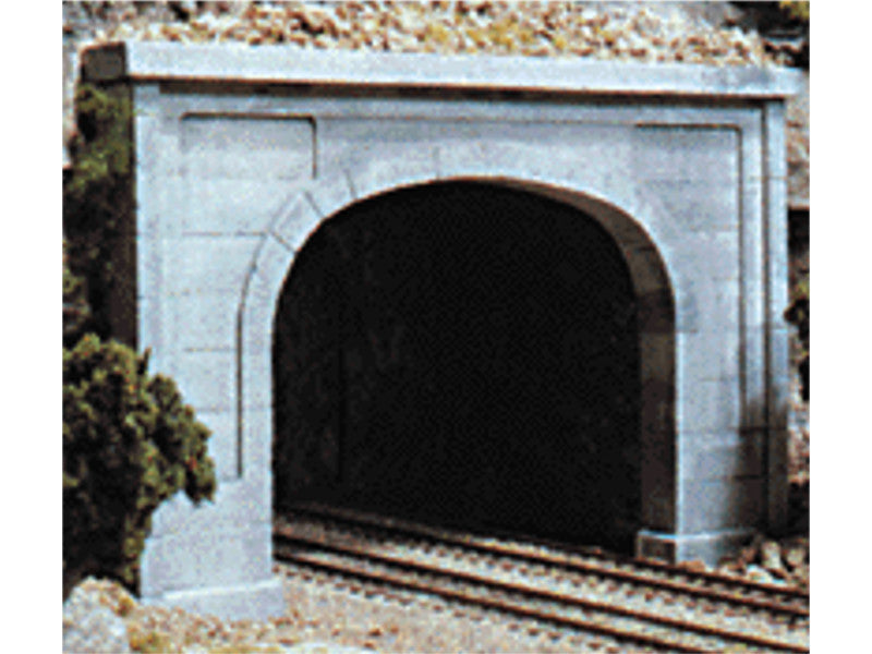 785-1156 N Double Track Tunnel Portals pkg(2; Unpainted Hyrdrocal(R) Castings) -- Concrete