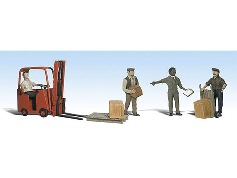 N Scenic Accents(R) Figures -- Workers with Forklift