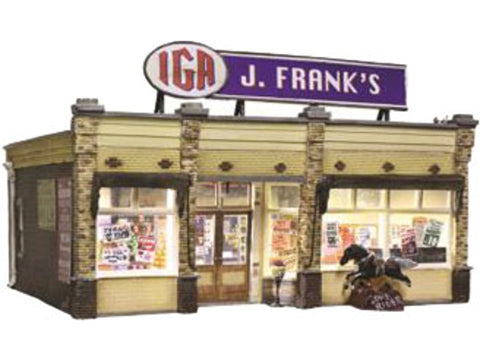 N 	J. Frank's Grocery - Built & Ready Landmark Structures(R) -- Assembled