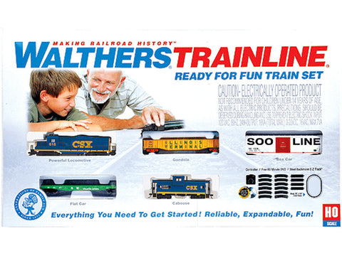 HO Ready-for-Fun Train Set -- CSX Transportation