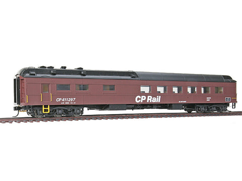 HO Pullman Heavyweight 36-Seat Maintenance-of-Way Diner - Ready to Run -- Canadian Pacific #411297 (MOW Scheme, Boxcar Red, black)