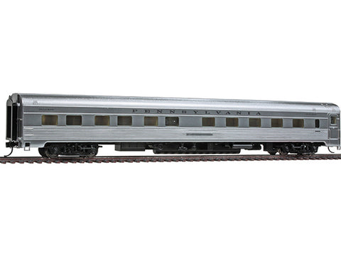 HO 85' Budd Pacific Series 10-6 Sleeper - Ready to Run -- Pennsylvania Railroad (plated finish, black lettering)