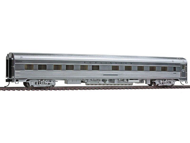 932-15144 HO 85' Budd Pacific Series 10-6 Sleeper - Ready to Run -- Chicago, Burlington & Quincy (Plated Metal Finish)