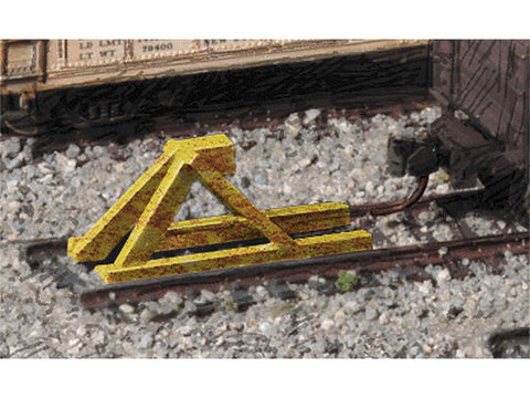N Track Bumper - Built-ups -- Yellow pkg(5)