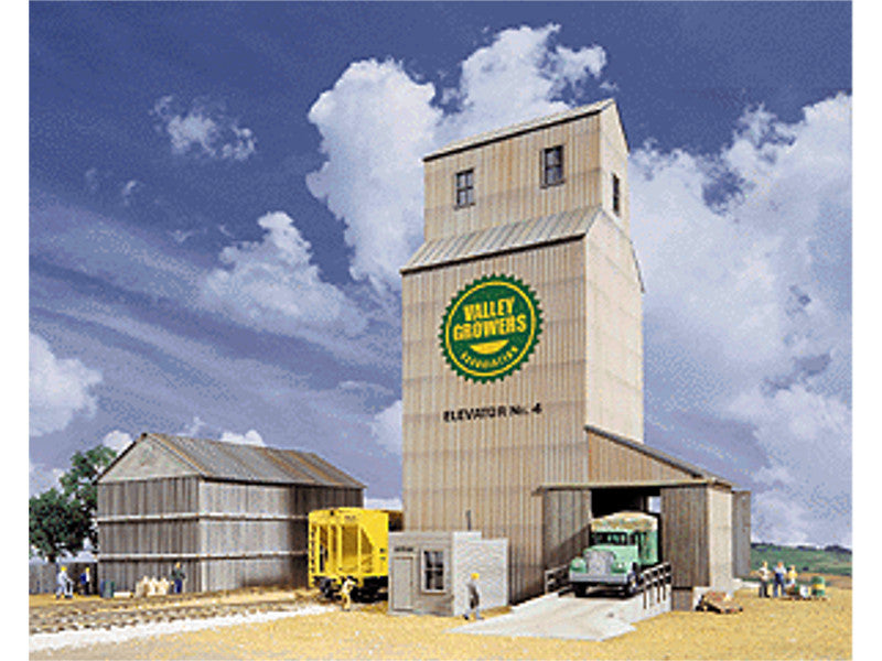 933-3096 HO Valley Growers Association Steel Grain Elevator -- Kit