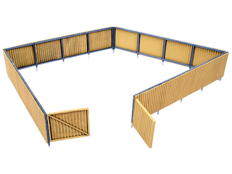 "933-3632 HO Corrugated Fence -- Kit - 240 Scale Feet 1-1/4"" 3.1cm High"