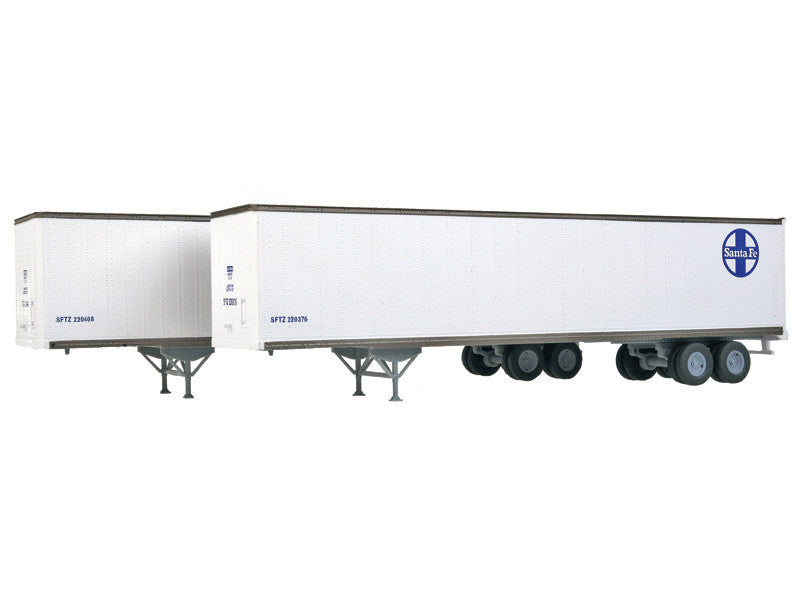 949-2254 HO 48' Stoughton Trailer 2-Pack - Assembled -- Santa Fe