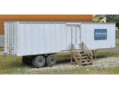 HO Construction Site Storage Trailer -- Kit