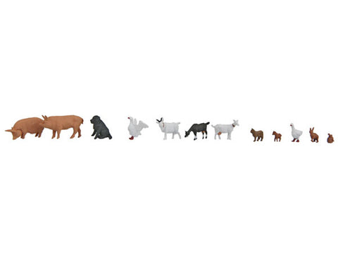 HO Farmhouse Animals pkg(12)
