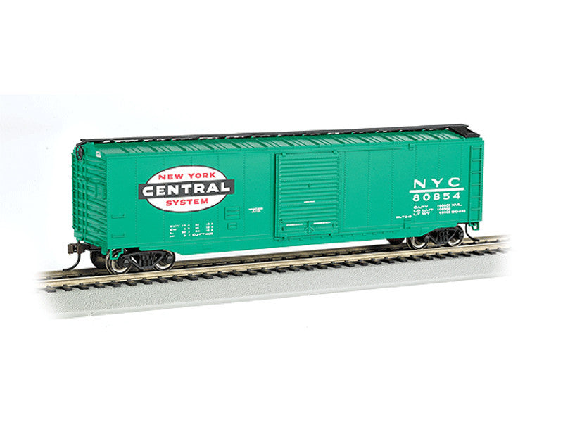 bac19402 HO Silver Series(R) 50' Sliding-Door Boxcar - Ready to Run -- New York Central (Jade Green)