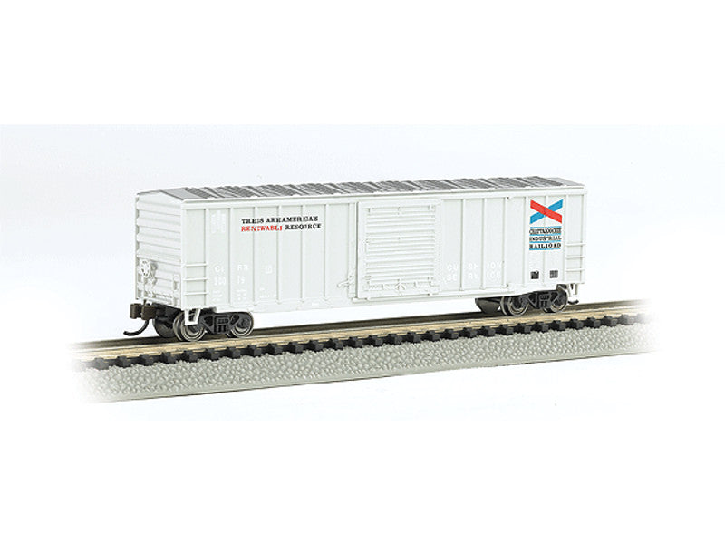 "bac19655 N ACF 50'6"" Outside-Braced Sliding-Door Boxcar - Ready to Run - Silver Series -- Chattahoochee Industrial Railroad (white)"