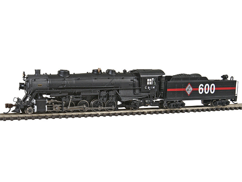 bac83352 N USRA Light 2-10-2 w/DCC - Spectrum(R) -- Chicago & Illinois Midland #600 (black, graphite, red Band, Large Logo & Num