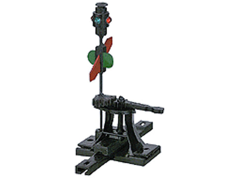 "HO High Level Switch Stand -- .190"" Travel Sprung w/Lantern & Targets"