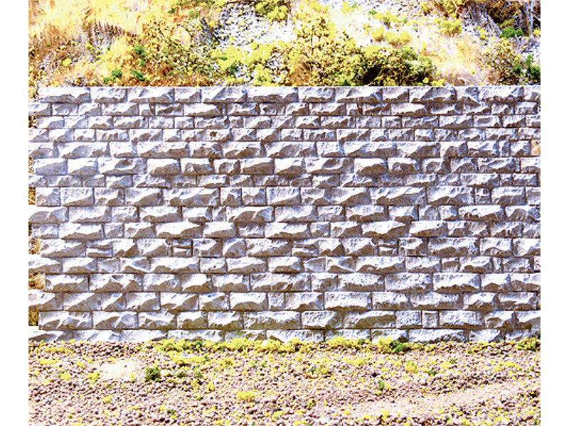 "cho8312 A Cut Stone Retaining Wall -- Medium 6-3/4 x 3-1/2"" 17.1 x 8.9cm"
