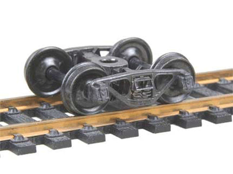 "HO A.S.F.(R) Ride Control(R) 50-Ton Fully Sprung Metal Trucks -- Code 110 (.110"") 33"" Smooth-Back RP-25 Wheels 1 Pair"