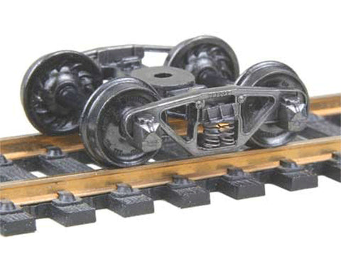 "HO Vulcan Double Truss Fully Sprung Metal Trucks -- Code 110 (.110"") 33"" Ribbed-Back RP-25 Wheels 1 Pair"