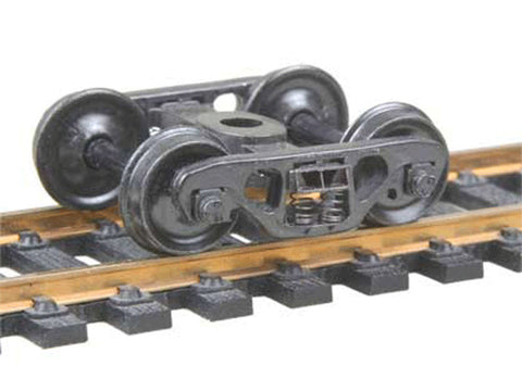 "HO Barber(R) S-2 70-Ton Roller Bearing Fully Sprung Self-Centering Metal Trucks -- Code 110 (.110"") 33Ó Smooth-Back RP-25 Wheels 1 Pair"