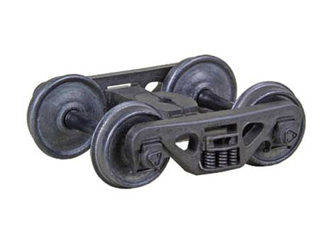 "HO ACL Barber(R) S-2 70-Ton Roller-Bearing Self-Centering HGC Trucks -- Code 110 (.110"") 33Ó Smooth-Back RP-25 Wheels 1 Pair"