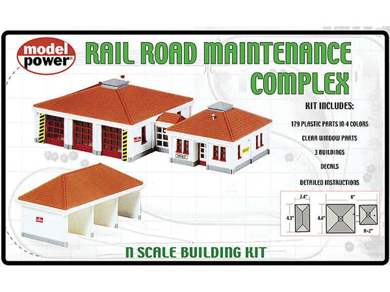 mdp1584 N Building Kits pkg(3) -- Railroad Maintenance Complex