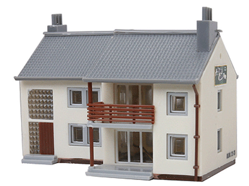 mdp2612 N Built-Up Buildings Lighted w/Two Figures -- Garden Apartments pkg(2)