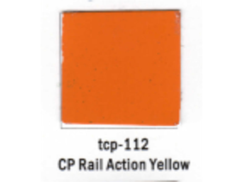 tup112 A Railroad Color Acrylic Paint 1oz 29.6ml -- Canadian Pacific Action Yellow