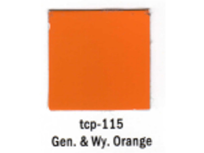 tup115 A Railroad Color Acrylic Paint 1oz 29.6ml -- Genessee & Wyoming Orange