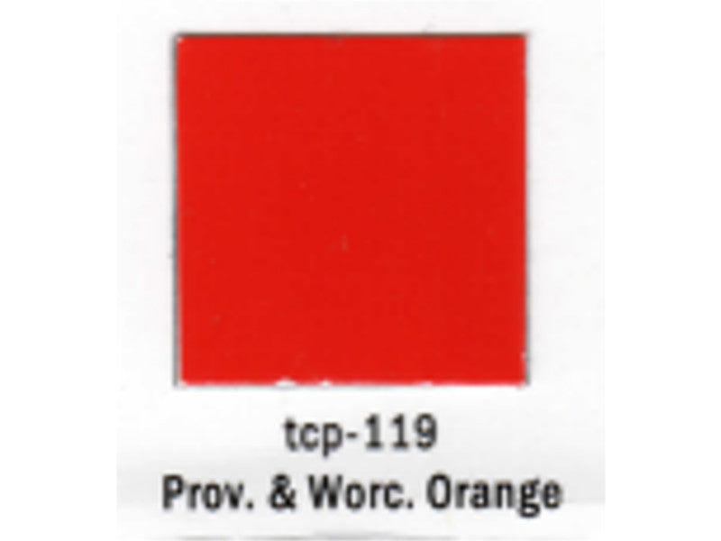 tup119 A Railroad Color Acrylic Paint 1oz 29.6ml -- Providence & Worcester Orange