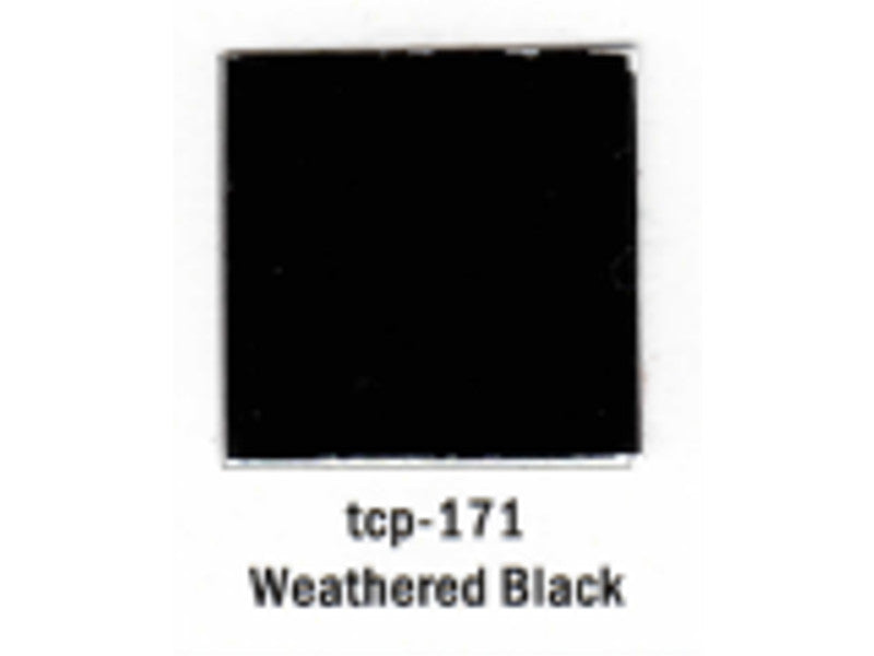 tup171 A Railroad Color Acrylic Paint 1oz 29.6ml -- Weathered Black (Flat)