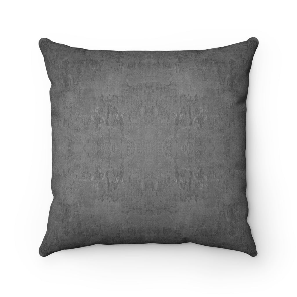 Watermark ~ Charcoal ~ Faux Suede Square Pillow