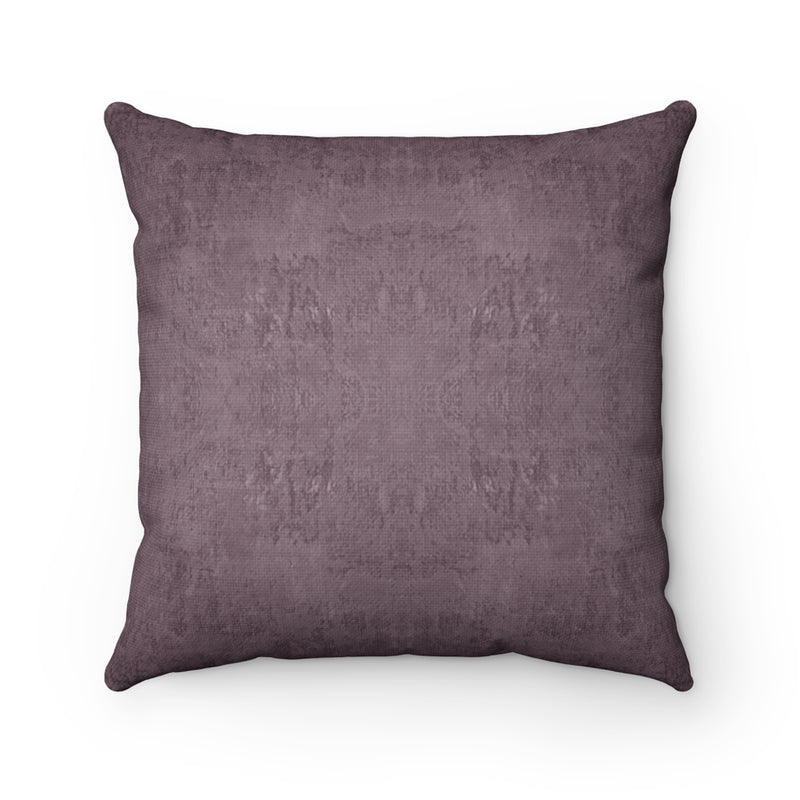 Watermark ~ Plum ~ Spun Polyester Square Pillow