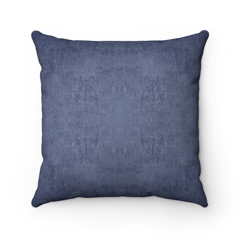 Watermark ~ Indigo ~ Faux Suede Square Pillow