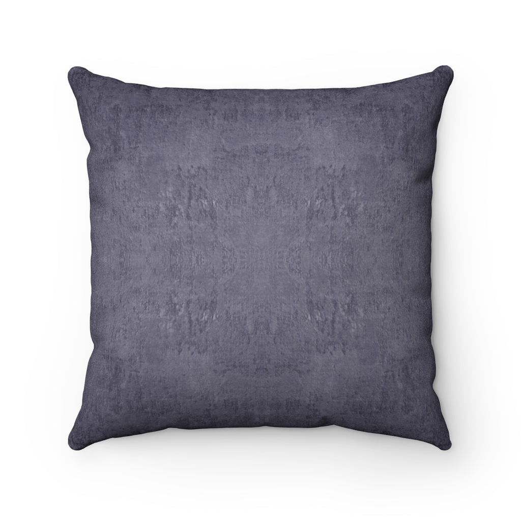 Watermark ~ Aubergine ~ Faux Suede Square Pillow