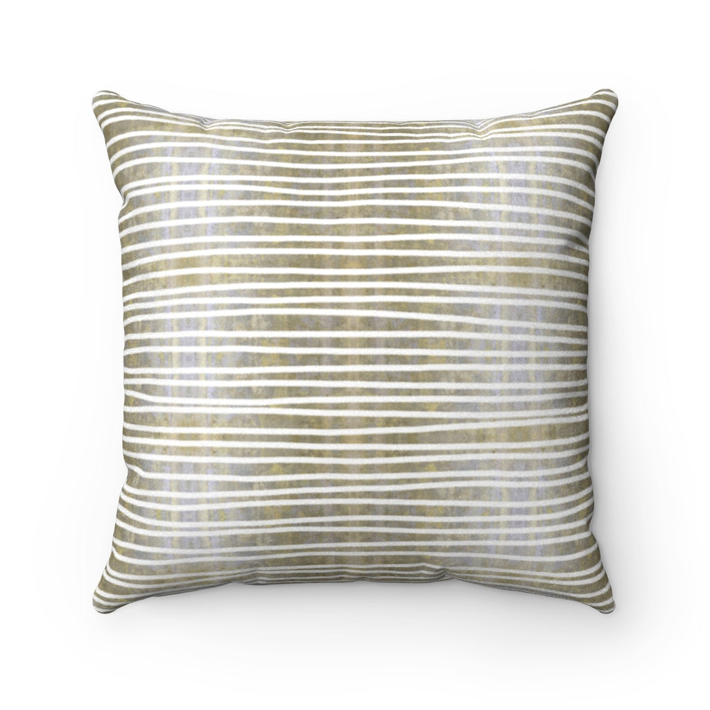 Aligned ~ Sand ~ Faux Suede Square Pillow
