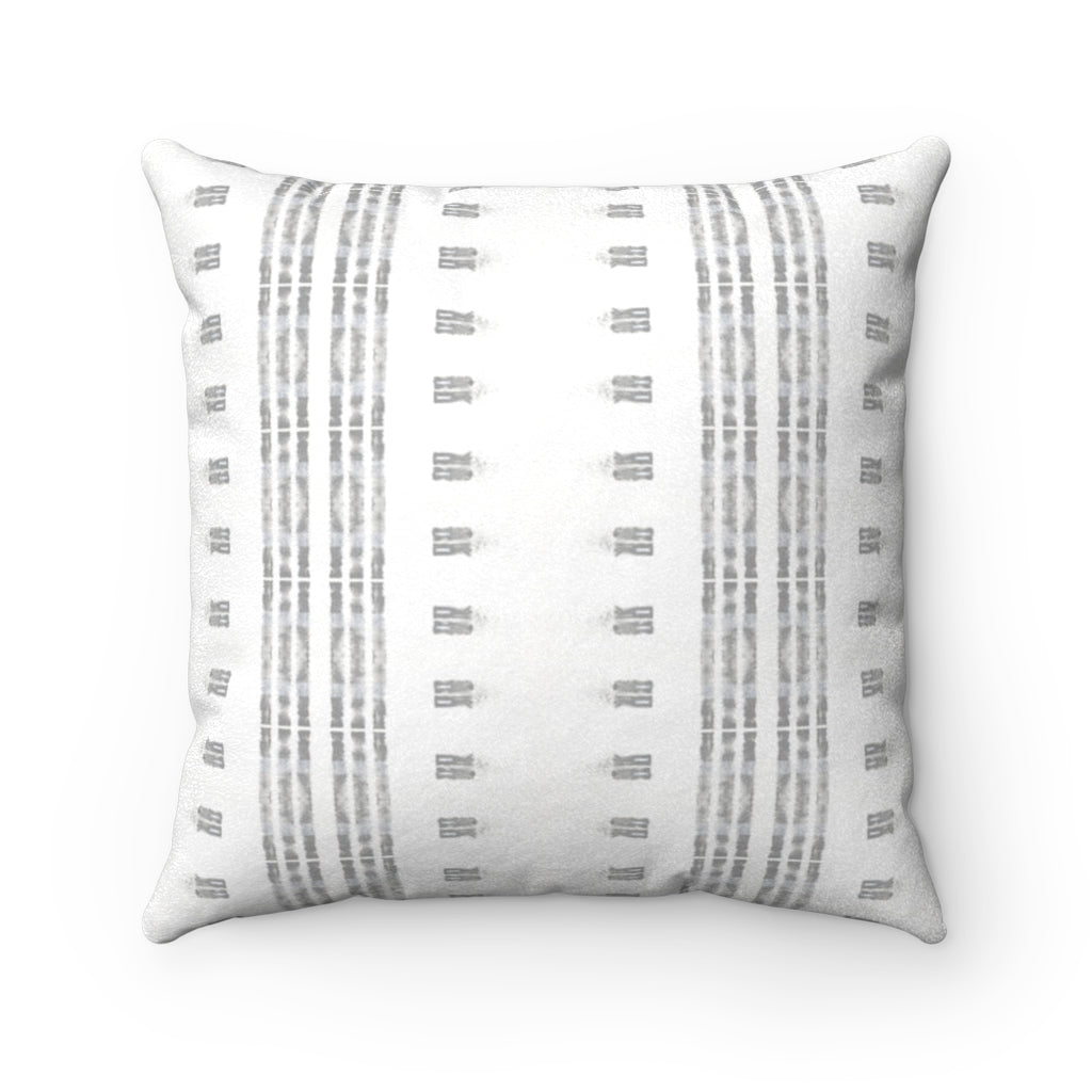 Family Gatherings ~ Grey ~ Faux Suede Square Pillow