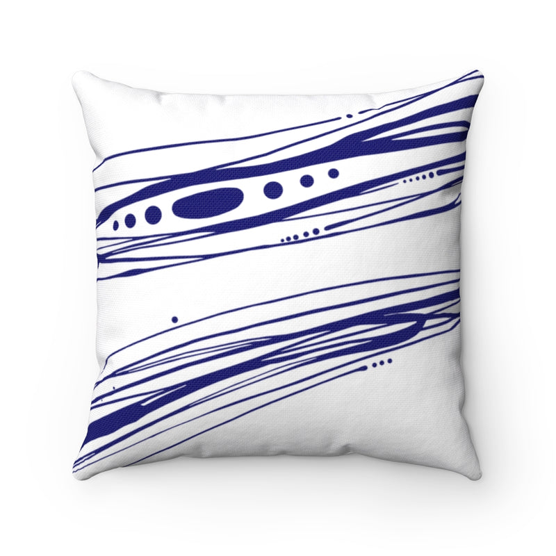 Spindrift ~ Indigo & White ~ Spun Polyester Square Pillow
