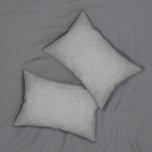 Watermark ~ Grey ~ Spun Polyester Lumbar Pillow